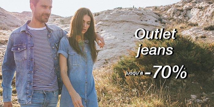 Soldes outlet jeans