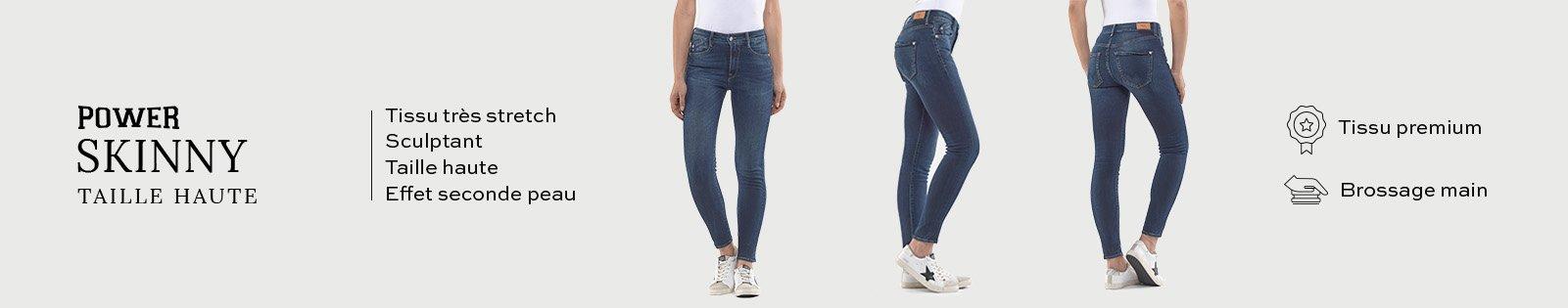 Power Skinny Taille Haute