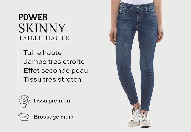 Power Skinny Taille Haute