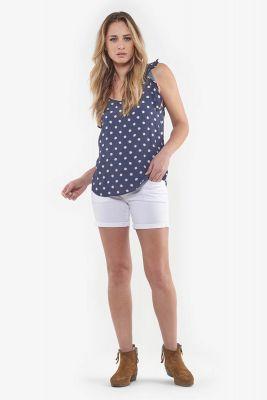 Short en jeans Janka blanc