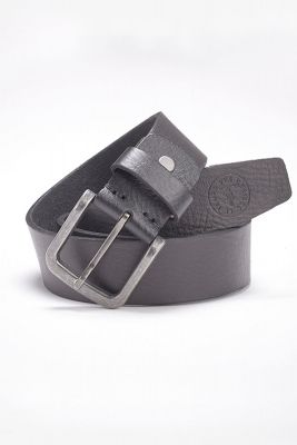 Black leather clint belt