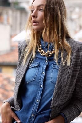 Chemise en jeans Juanita bleue