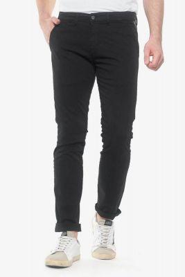 Pantalon chino slim Jas noir