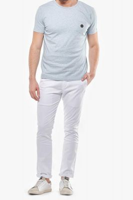 Pantalon Chino Slim Jas Blanc