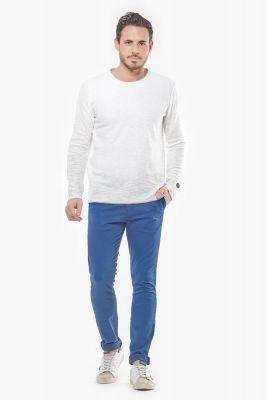 Pantalon Chino Slim Jas Bleu orage