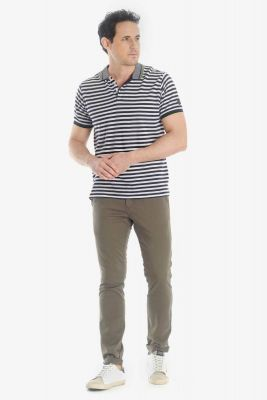 Pantalon chino slim Jas kaki