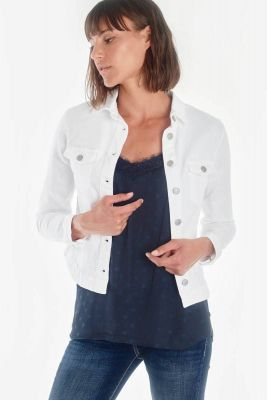 Veste en jeans Lilly blanche