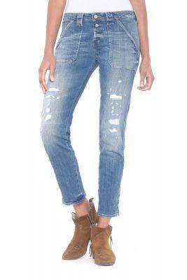 Cara 200/43 boyfit jeans destroy bleu N°4