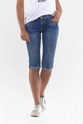 Corsaire en jeans Josia bleu