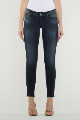 Pulp Skinny Jeans 7/8th Black Blue