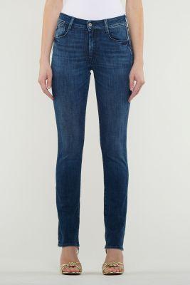 Jeans Pulp Regular Taille Haute  Bleu Foncé