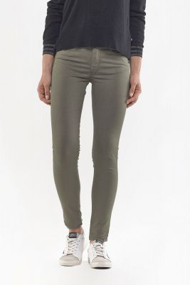 Pulp Skinny High Waist Jeans Khaki