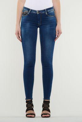 Jeans Ultra Power Skinny Bleu Délavé