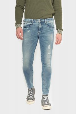 Power skinny 7/8th jeans destroy blue N°4