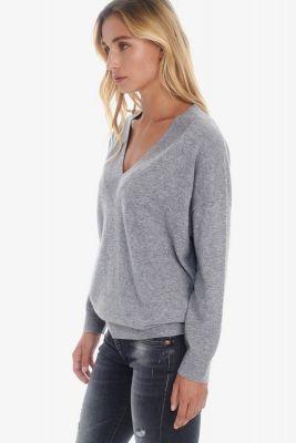 Pull en laine et cachemire Dalida gris