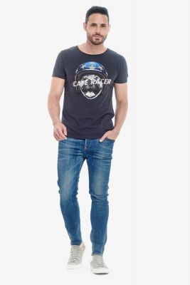 T-shirt Racer bleu nuit