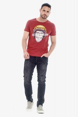 T-Shirt Scramb rouge brique
