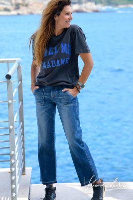 Véronika Loubry Just Curacao Blue Jeans