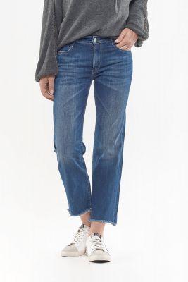 Precious regular taille haute court jeans bleu N°2