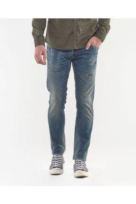 Basic 700/11 slim jeans vintage destroy blue N°2