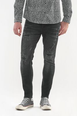 Power Skinny Jeans Black Destroy