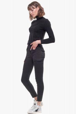 Pantalon slim Navy noir