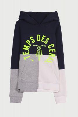 Huddlebo tricolor hoodie