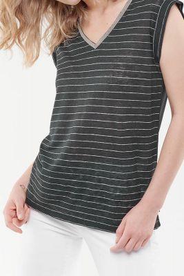 T-Shirt Sergia Noir en lin
