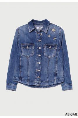 Veste en jeans Abigail bleu