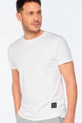 T-shirt Brown blanc