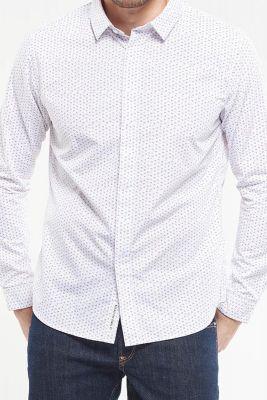 Chemise Casul blanche à micro motifs