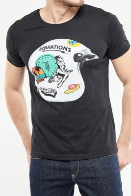 T-Shirt Guzzi noir