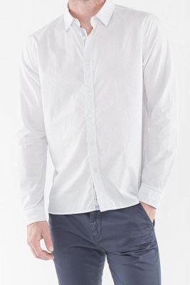Chemise Kurt blanche à micro motifs