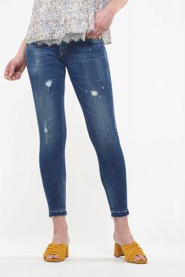 Ceiba pulp slim 7/8ème jeans destroy bleu N°2