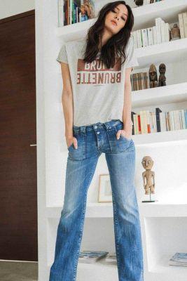 Flare jeans bleu N°4