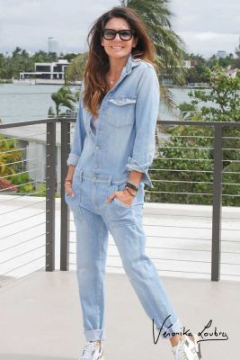 Combinaison en jeans Jake bleue by Véronika Loubry