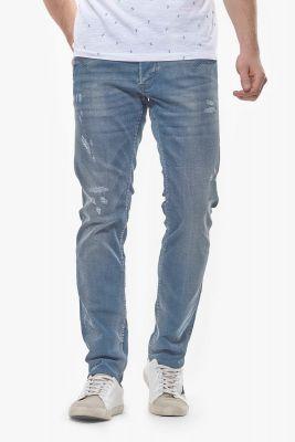 Jeans 700/11 slim Korfou destroy bleu-noir N°4