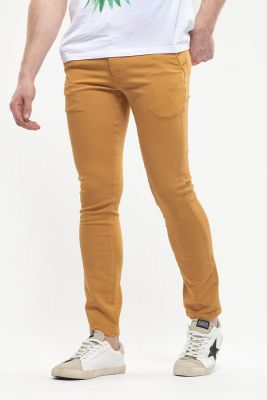 Chino Jogg Slim Kurt jaune