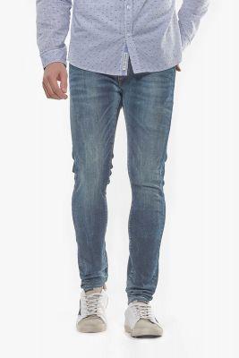 Jeans Power skinny destroy bleu-noir N°4