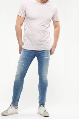 Light blue washed 7/8 power jeans N°4