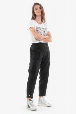 Esmera black cargo trousers