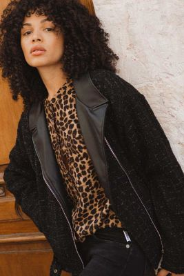 Veste style perfecto Alisson noire