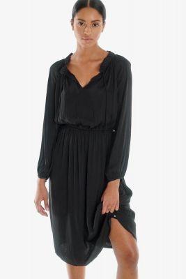 Robe mi-longue Amia noire