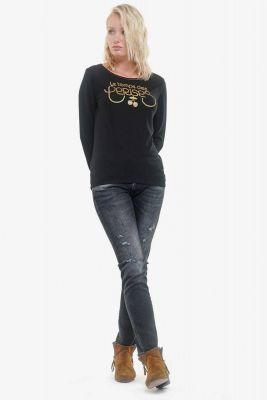T-shirt Basitrame noir
