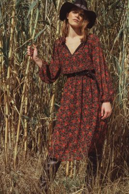 Robe mi-longue Damia rouge