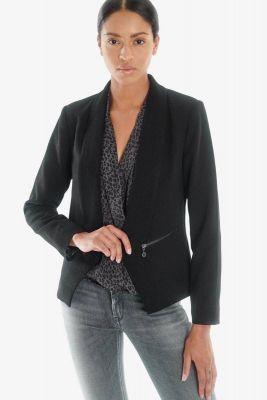 Shiny black Reba jacket