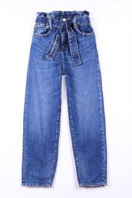 Jeans taille haute bleu N°4