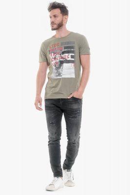T-Shirt Bourbon kaki