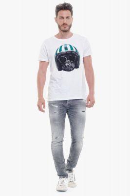T-Shirt Nash blanc