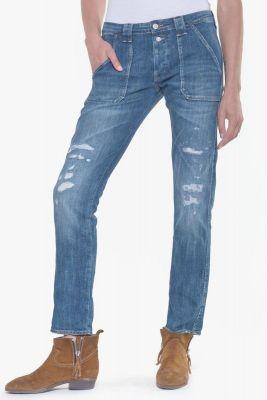 Nano 200/43 boyfit jeans destroy bleu N°3
